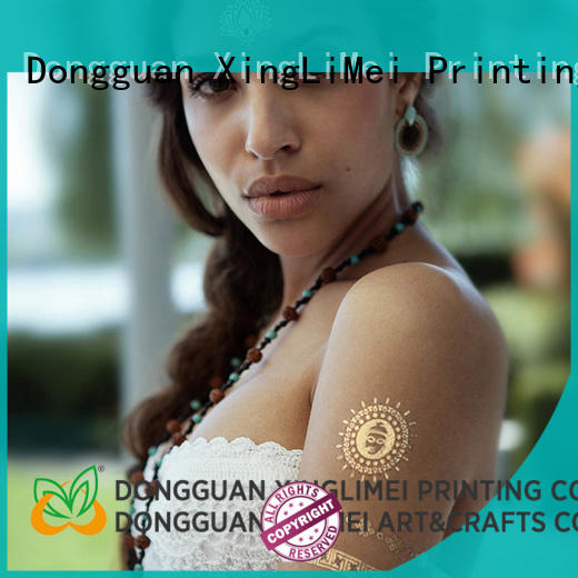 Quality XingLiMei Brand custom metallic temporary tattoos designs