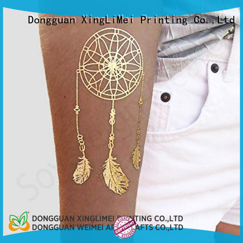 XingLiMei shiny temporary jewelry tattoos art for face