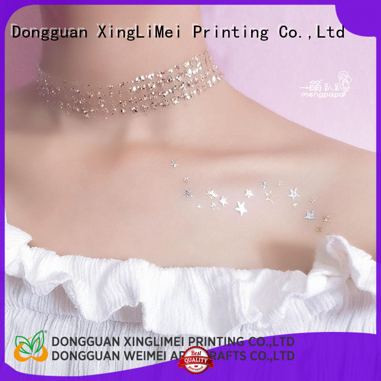 XingLiMei art metallic transfer tattoos art for face