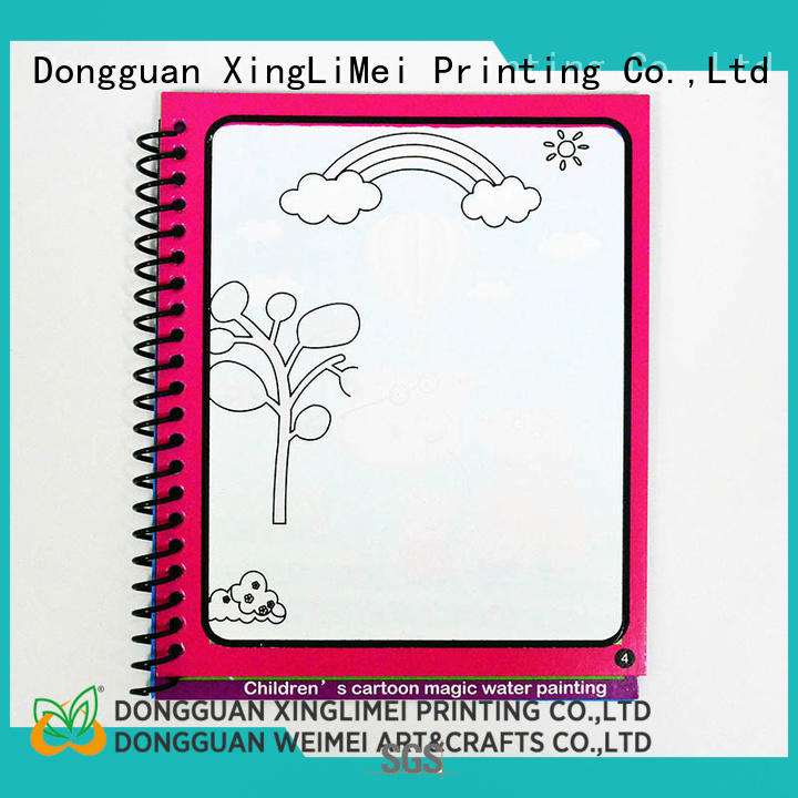 XingLiMei painting magic water colouring book wholesale for lesson