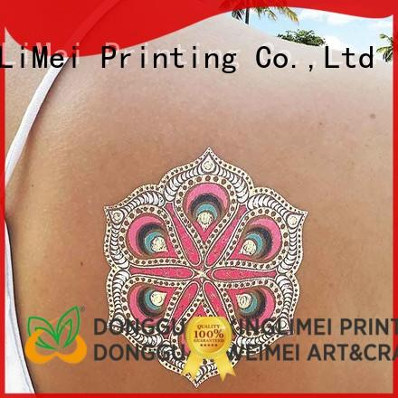 XingLiMei cosmetic metallic transfer tattoos artist for wedding