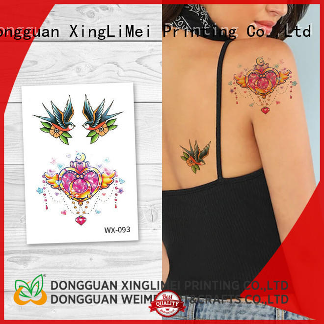 XingLiMei fake body art temporary tattoos factory price for party