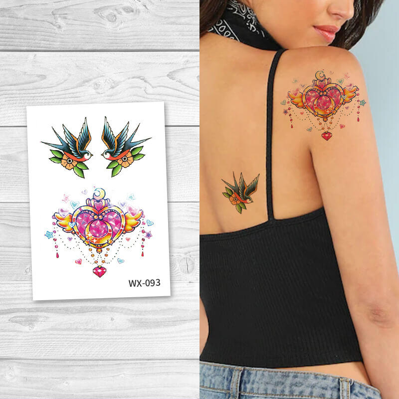 Non-toxic water transfer temporary tattoos for Arms Legs Belly Back Legs WX093