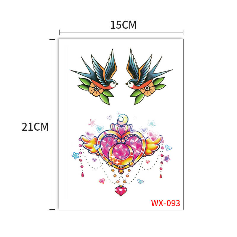 XingLiMei full color water transfer tattoos prices for beauty-1