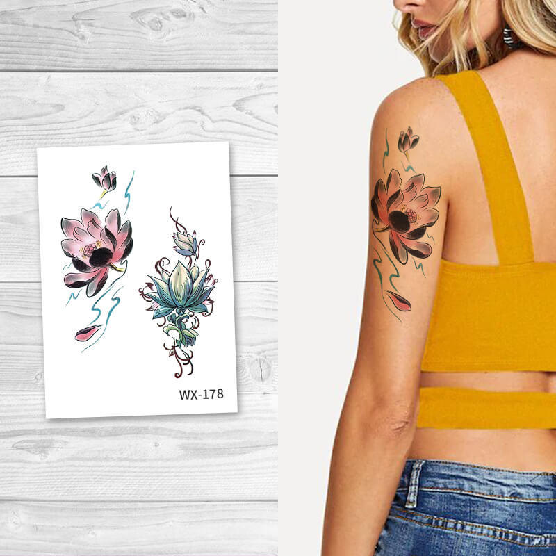 Sexy Floral Body Temporary Tattoos For Girls WX178