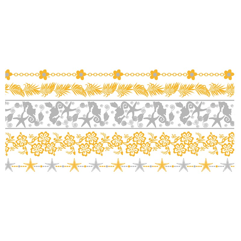 XingLiMei Wholesale metallic temporary tattoos shipped to business for wedding-1