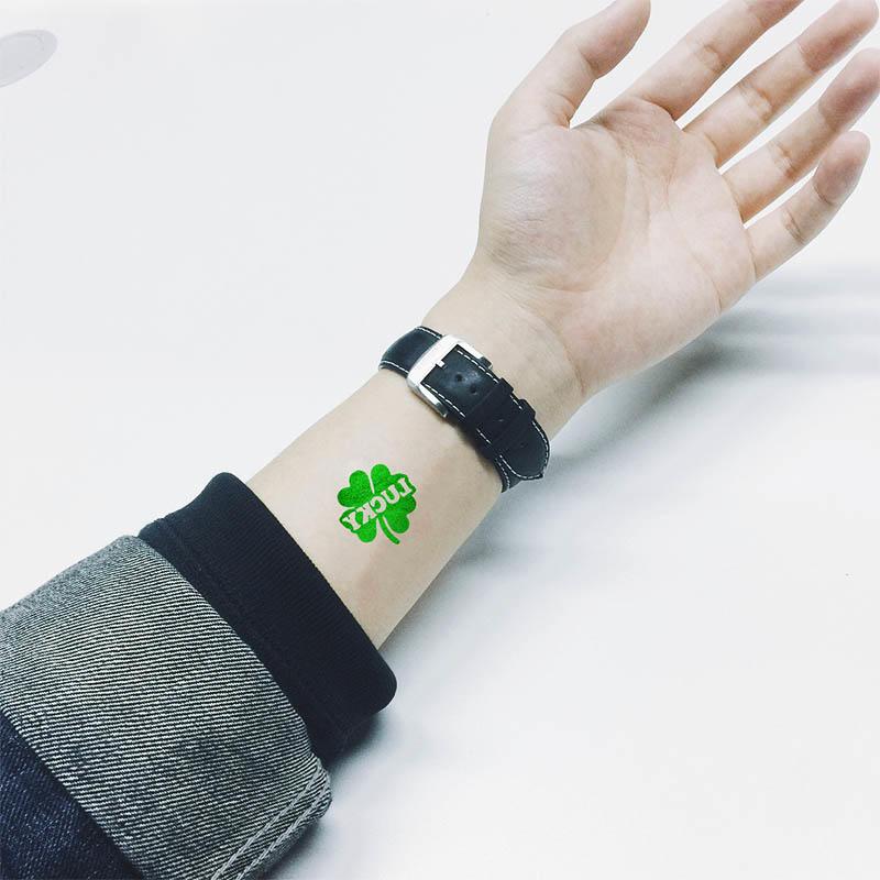 Non-toxic water transfer glitter temporary body tattoo Sticker