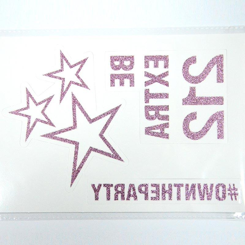 Non-toxic water transfer glitter temporary body tattoo Sticker