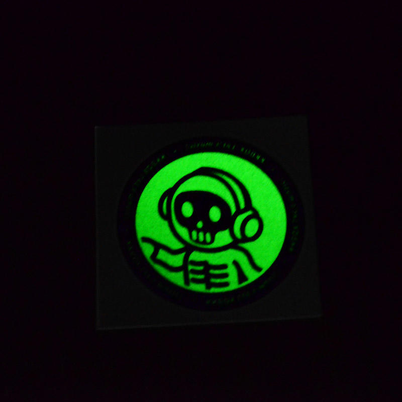 Beautiful color glow in the dark sticker tattoo be the night star