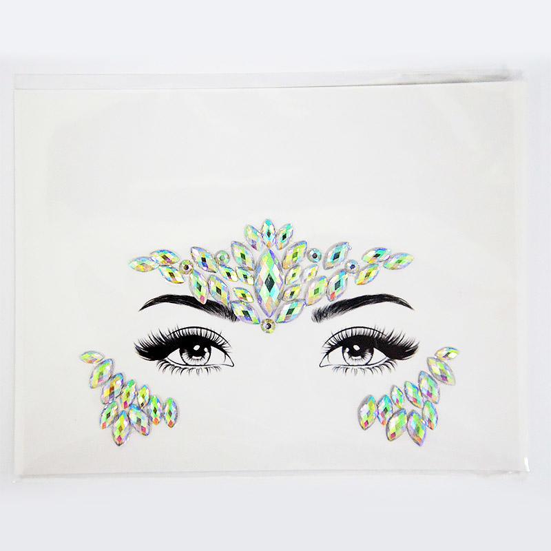 Fashionable Decoration Face Gems Jewel Rhinestones Adhesive Stickers