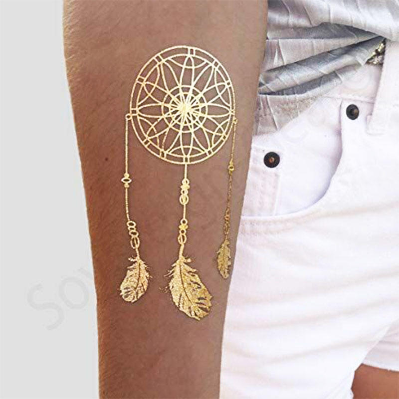 Metallic Shiny Temporary Water Transfer Tattoo