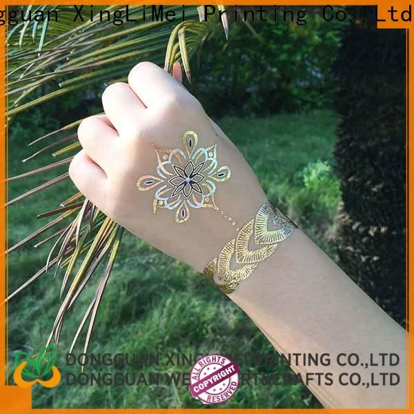 XingLiMei shimmer temporary jewelry tattoos supplier for face