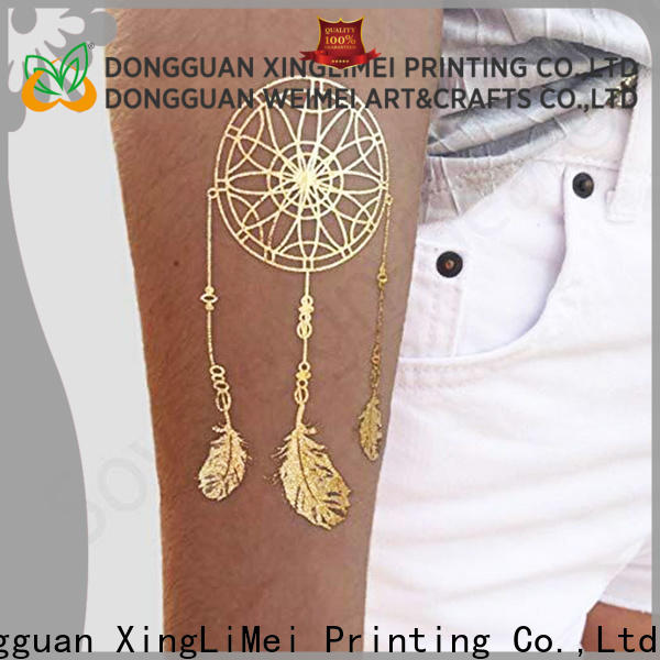 XingLiMei shimmer metallic fake tattoos patterns for beauty