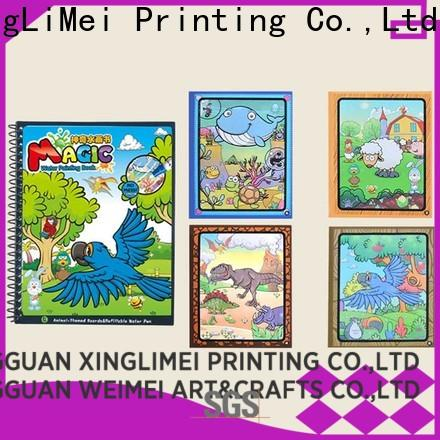 customized magic water coloring book reusable wholesale for interaction