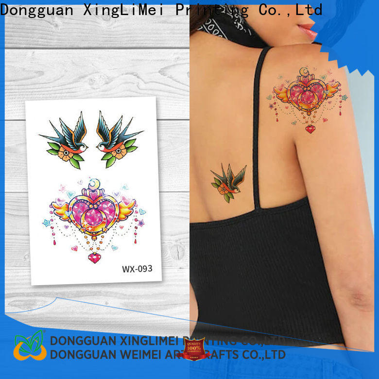 XingLiMei full color water transfer tattoos prices for beauty