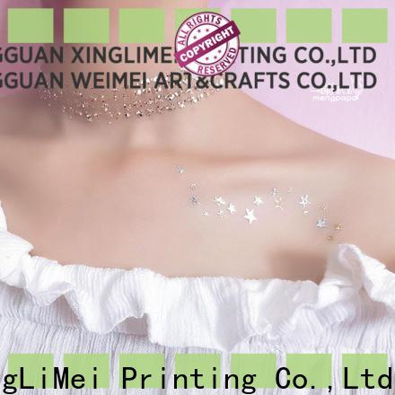 XingLiMei Metallic custom gold temporary tattoos patterns for beauty