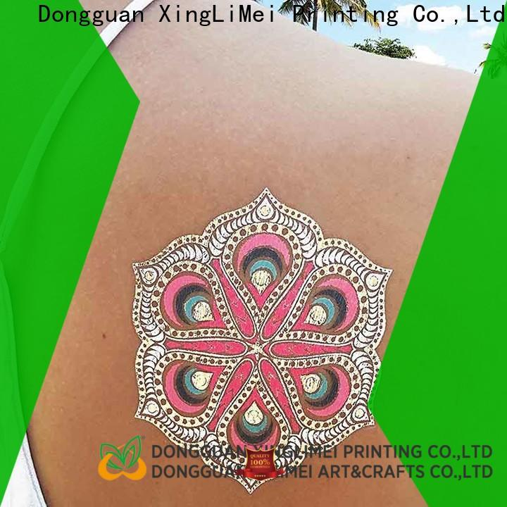 XingLiMei jewelry metallic body tattoos supply for necklace