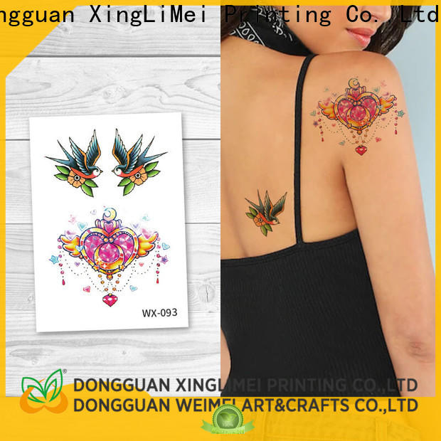 XingLiMei nontoxic color temporary tattoos for adult for party
