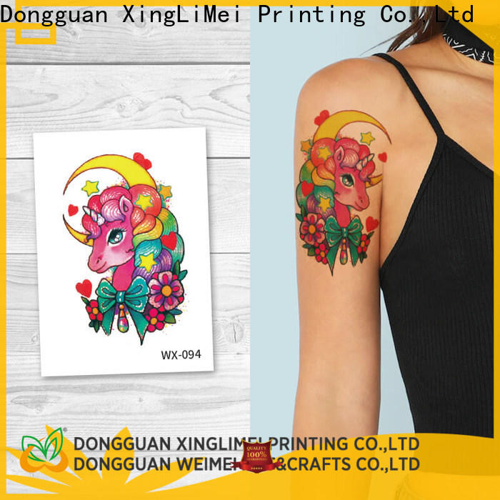 XingLiMei nontoxic color temporary tattoos factory price for wedding