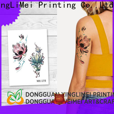 XingLiMei full color body art temporary tattoos prices for beauty
