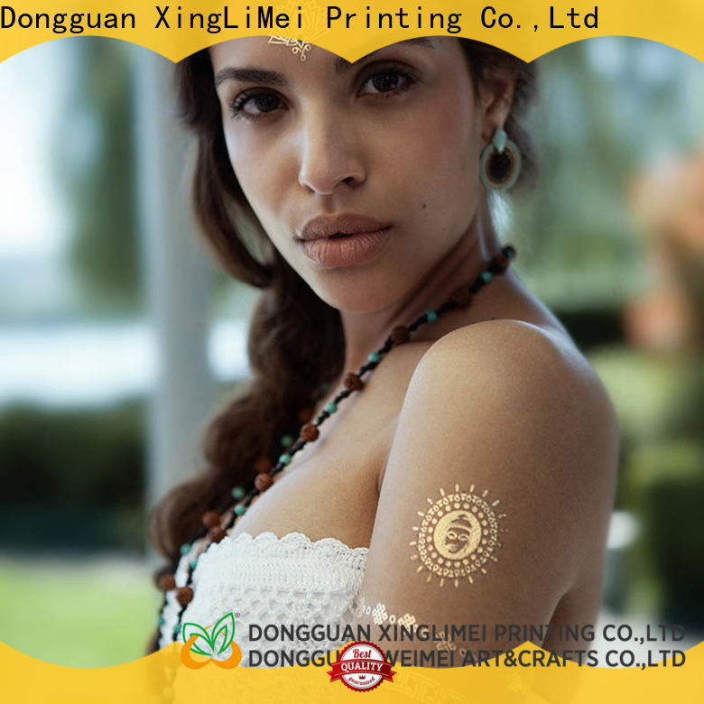 XingLiMei shimmer metallic tattoo stickers supply for wedding
