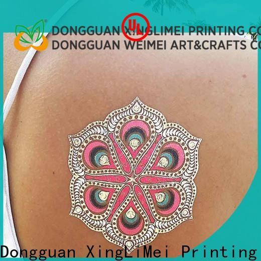 XingLiMei jewelry metallic temporary tattoos artist for beauty