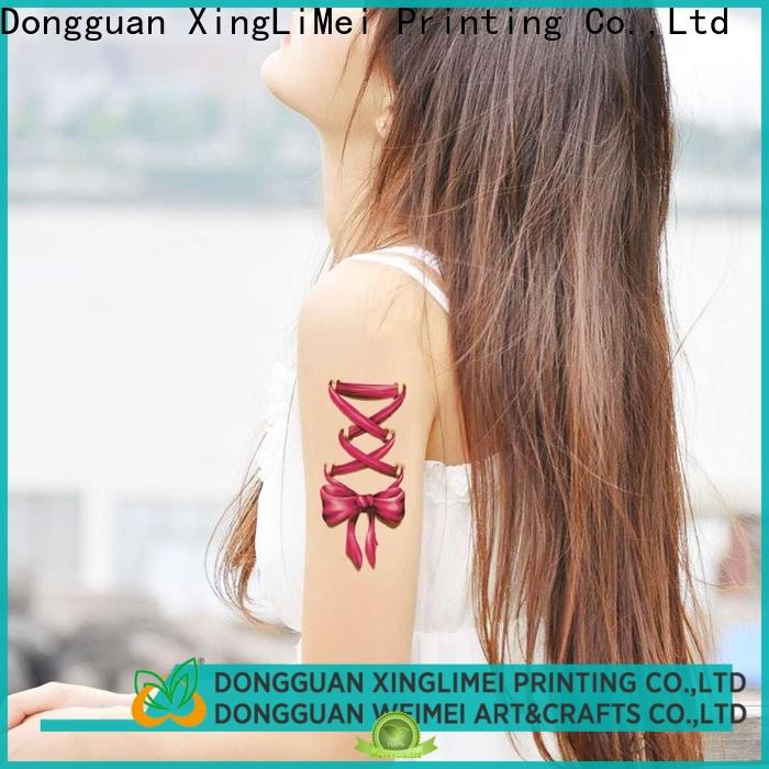 XingLiMei uv custom temporary tattoos factory for hands