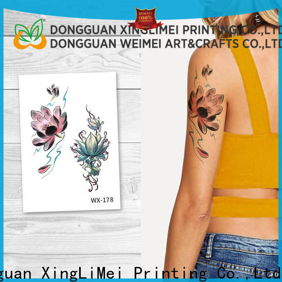 XingLiMei floral body art temporary tattoos quotes for wedding