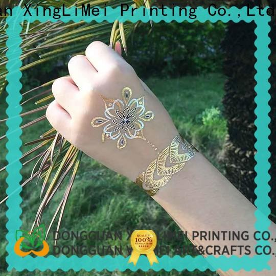 XingLiMei art metallic body tattoos supplier for beauty
