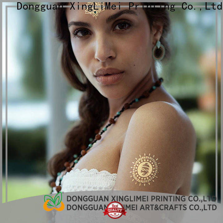 XingLiMei gold temporary jewelry tattoos art for face