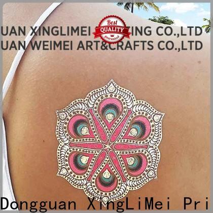 XingLiMei Metallic gold metallic temporary tattoos maker for necklace