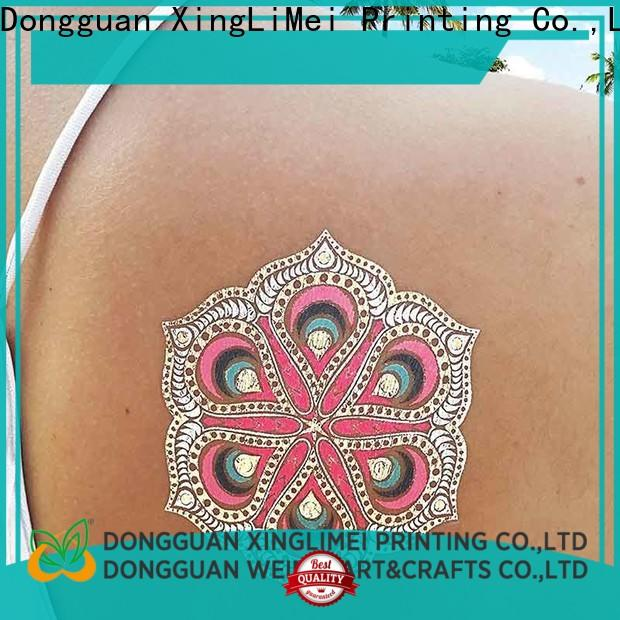 XingLiMei gold metallic tattoo stickers patterns for face