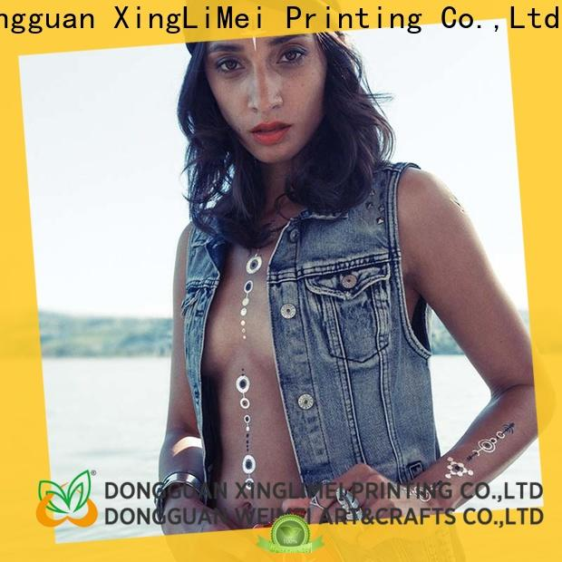 XingLiMei jewelry metallic tattoo stickers supply for face