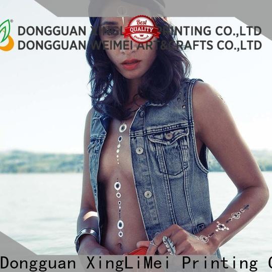 XingLiMei gold metallic transfer tattoos patterns for wedding