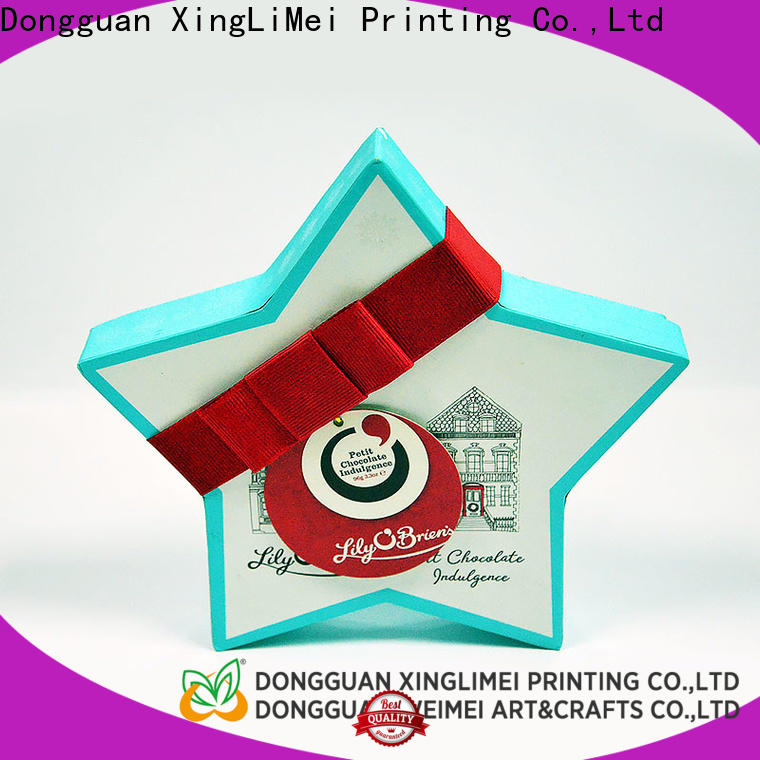 Recycle materials customized gift box customized christmas for friends