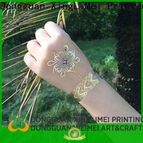 XingLiMei cosmetic metallic fake tattoos maker for make up