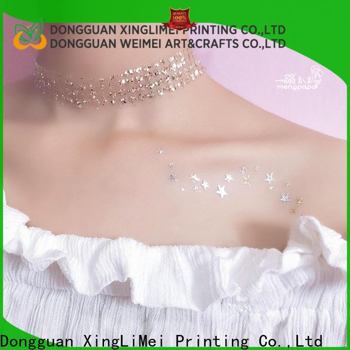 XingLiMei metallic metallic fake tattoos patterns for face