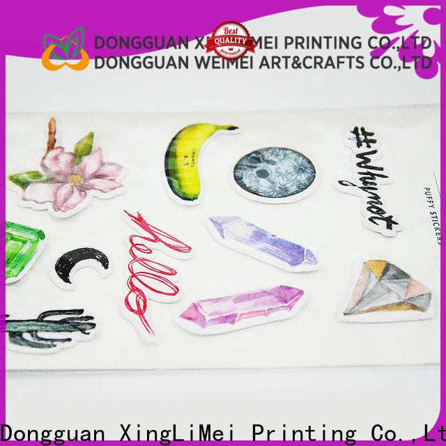 personal custom made stickers adhesive wholesale for wall