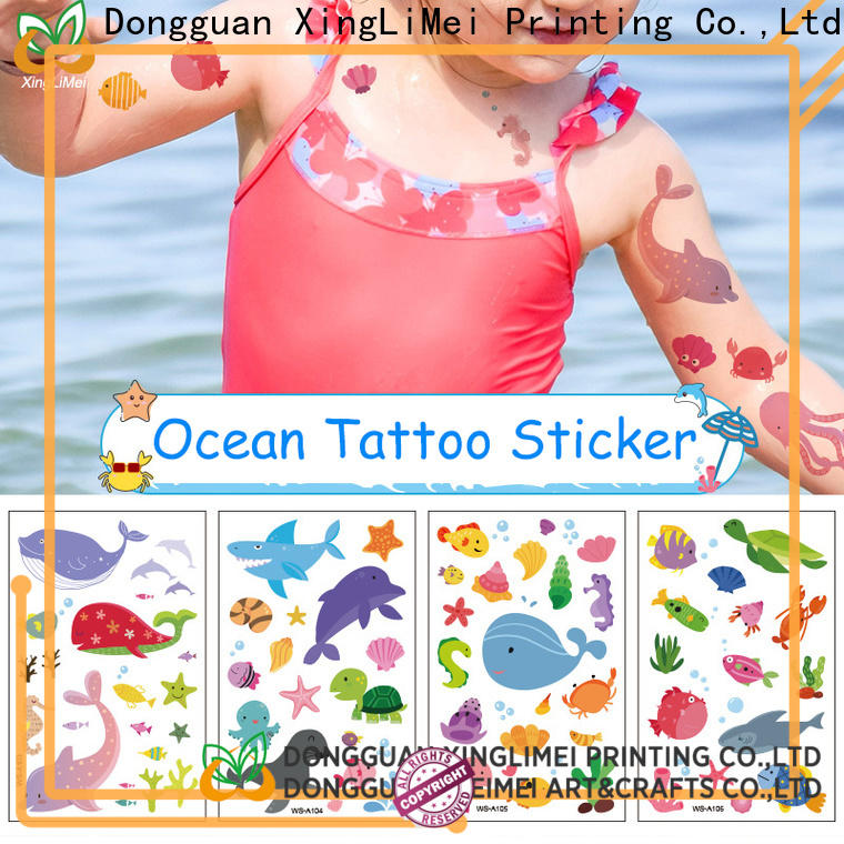 XingLiMei full color transfer tattoos for girls for wedding