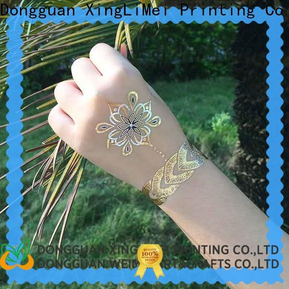 XingLiMei gold metallic temporary tattoos supply for make up