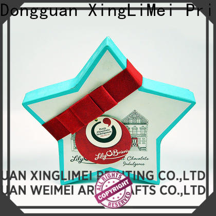 XingLiMei stamping custom printed boxes festival for wedding