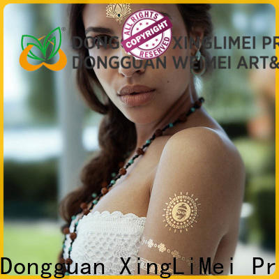 XingLiMei gold custom gold temporary tattoos maker for necklace
