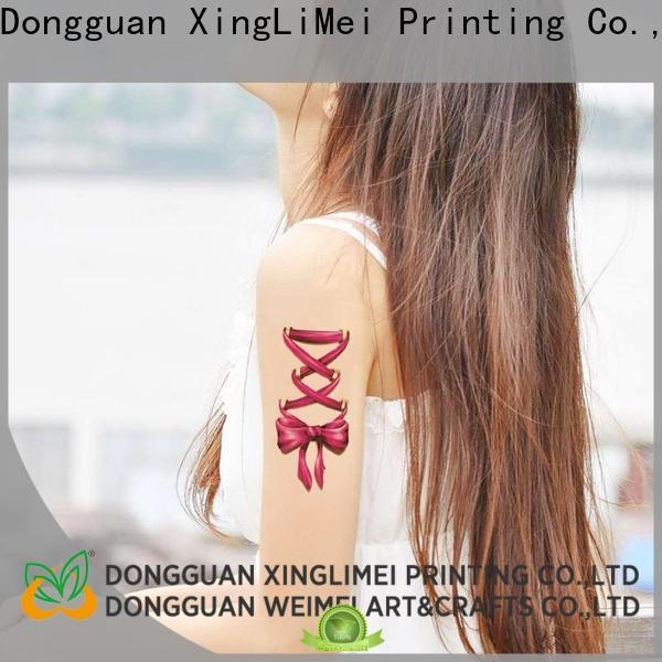 XingLiMei girl custom made temporary tattoos factory for shops