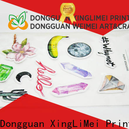 XingLiMei decorative custom vinyl stickers labels for Laptop