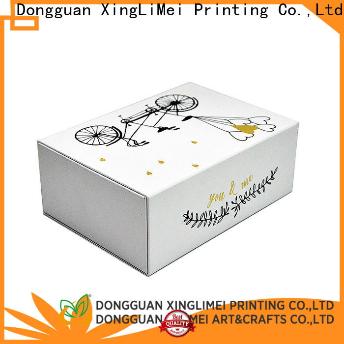 XingLiMei stamping custom printed boxes for weddings for party