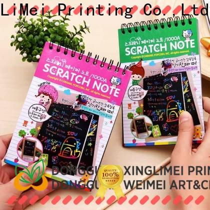 XingLiMei perfect toys black scratch paper books for handcraft