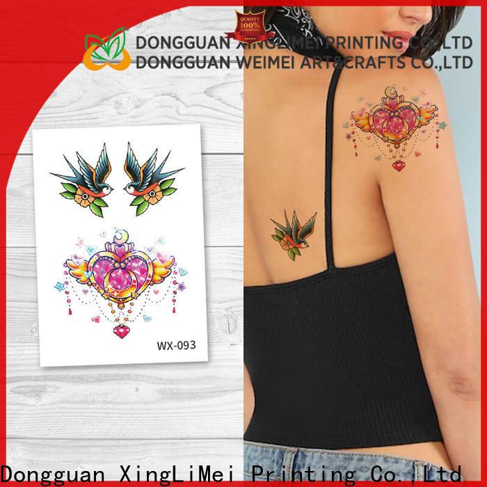 XingLiMei wx087 artificial tattoo shipped to business for wedding
