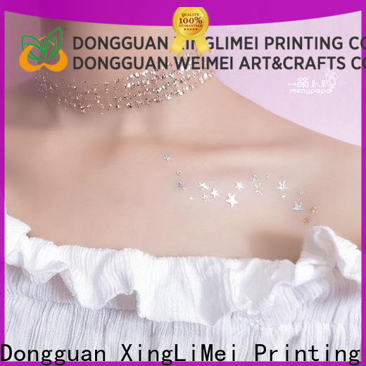 XingLiMei gold metallic temporary tattoos manufacturers for necklace