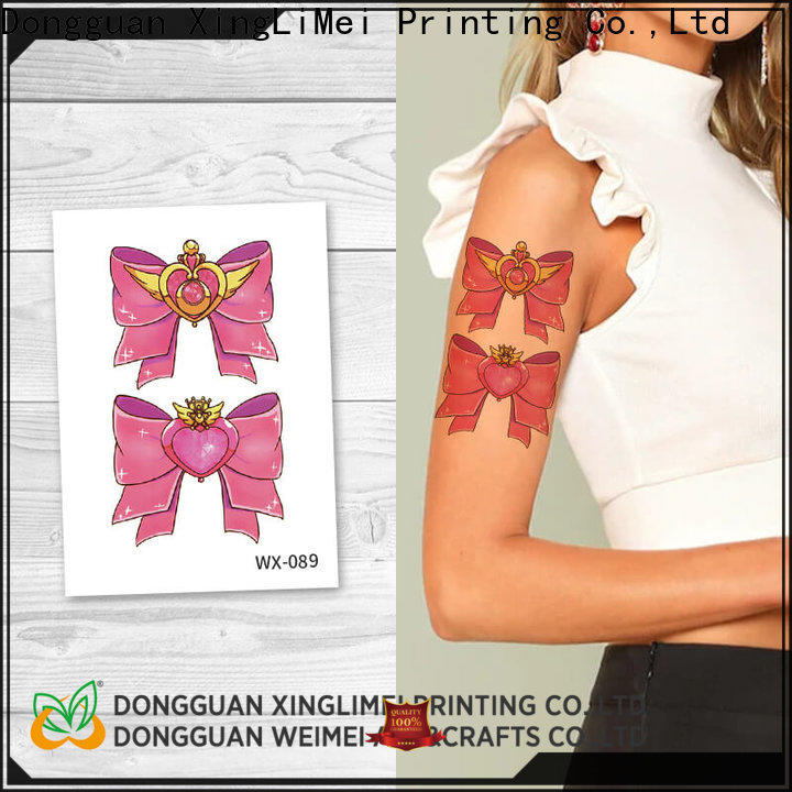 XingLiMei wx087 color temporary tattoos factory for wedding