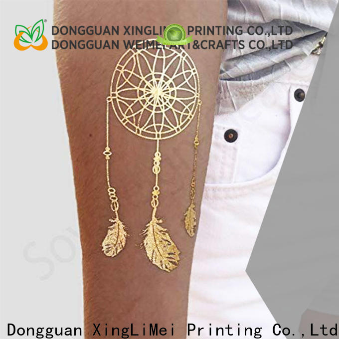 Top gold metallic temporary tattoos designs factory for beauty